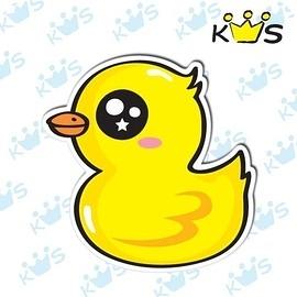 【收藏天地】防水防曬*安全帽 汽機車 萬用貼-黃色小鴨(小)