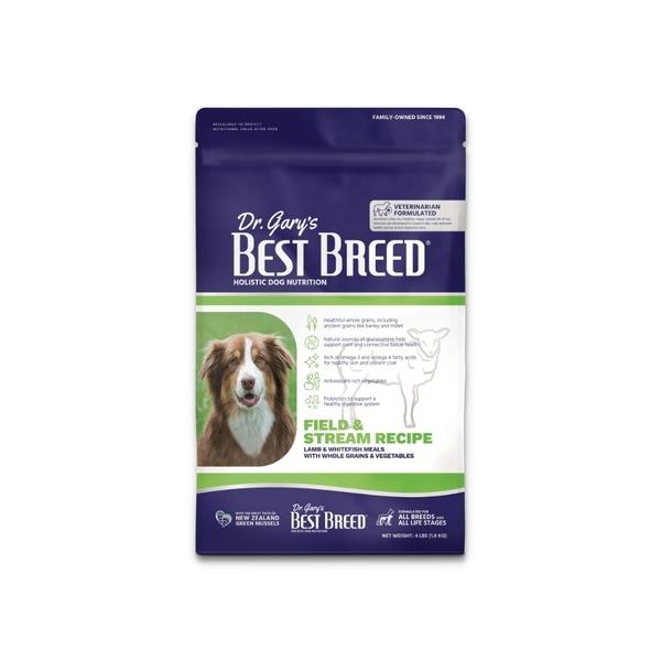 寵物家族-BEST BREED貝斯比-天然珍饌系列-全齡犬野牧羊肉+海魚配方1.8KG