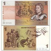 文化紀念幣  【大洋洲】全新UNC澳大利亞1元紙幣外國錢幣ND(1983)年P-42d可可鞋櫃