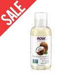 即期【NOW】椰子基底油(4oz/118ml) Liquid Coconut Oil 效期至2020/11