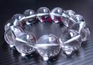 天然白水晶手鍊16mm大...圓珠 3A級~送禮物極品~附禮盒-父親節禮物*免運費