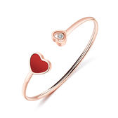 【5折超值價】時尚精美流行愛心鑲鑽造型百搭女款鈦鋼手環