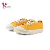 TOPSTAR童鞋 男女童 鬆緊帶餅乾鞋 休閒鞋 帆布鞋 室內鞋 室外鞋 L7316#黃色◆OSOME奧森鞋業