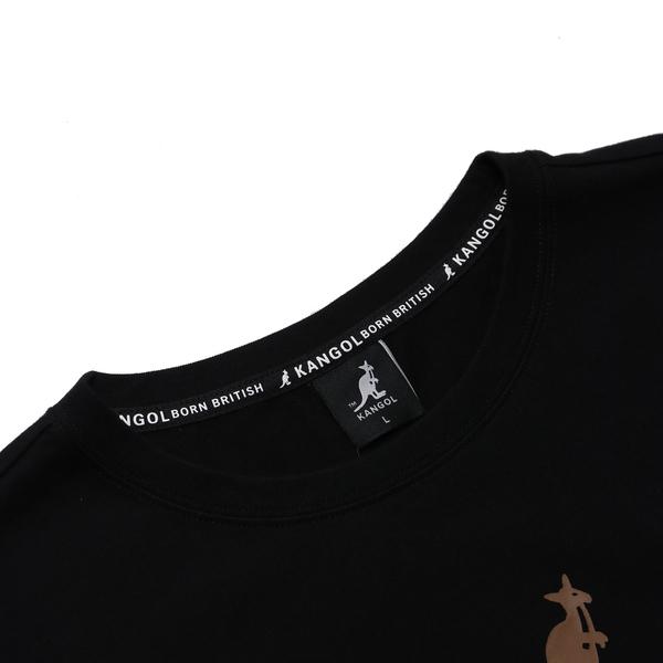 KANGOL 短袖 短T 黑 彩色英文LOGO 棉 休閒 男 (布魯克林) 6021103020