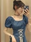 牛仔洋裝 法式設計感小眾復古溫柔牛仔裙子女夏季新款氣質女神高級感連身裙 寶貝 618狂歡