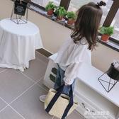 女童長袖襯衫-中小童春秋新款女童寶寶喇叭袖襯衣 兒童荷葉花邊襯衫上衣潮 多麗絲