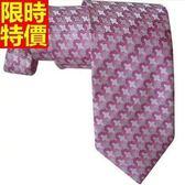 桑蠶絲領帶 男配件-韓版奢華十字紋流行手打領帶66ae41[巴黎精品]