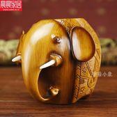個性創意大象辦公室筆筒擺件 DA3654『毛菇小象』