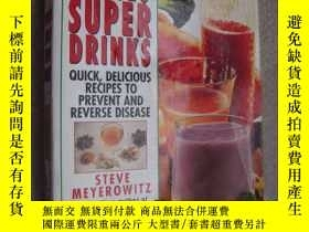 二手書博民逛書店英文原版書保健飲料罕見Power Juices, Super D