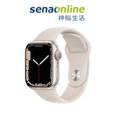 Apple Watch S7 GPS 45mm 星光鋁金屬-星光色運動型錶帶[預約賣場]