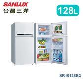 【佳麗寶】-《台灣三洋 / SANLUX 》雙門冰箱-128L【SR-B128B3】