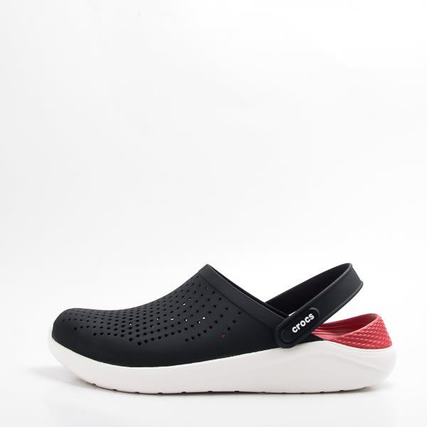 Crocs  中性鞋 LiteRide克駱格系列-黑/紅 204592-066