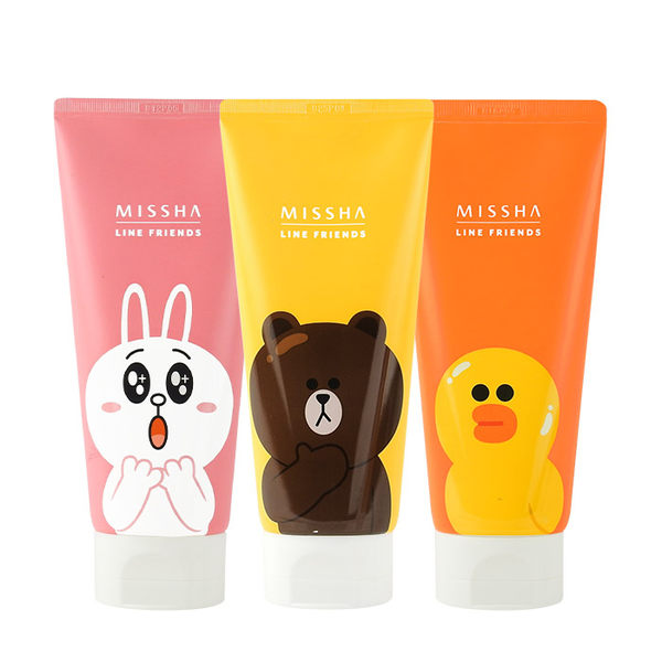 韓國  MISSHA x LINE FRIENDS 新款洗面乳 150mL 兔兔/莎莉/熊大 ◆86小舖◆