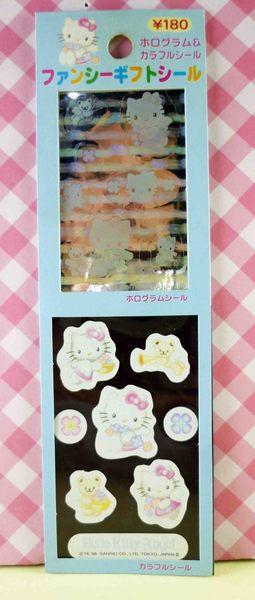 【震撼精品百貨】Hello Kitty 凱蒂貓~KITTY貼紙-天使藍