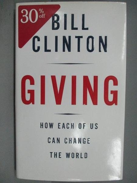 【書寶二手書T3/勵志_QAW】Giving_Bill Clinton