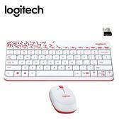 【logitech 羅技】MK240 NANO無線鍵鼠組 白色 【限量送束口收納袋】
