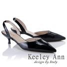 2018春夏_Keeley Ann俐落個性~素色漆皮質感真皮尖頭跟鞋(黑色)-Ann系列