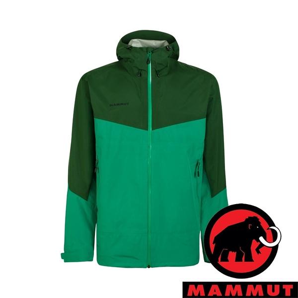 【MAMMUT 長毛象】Convey 男 GT單件式連帽外套『深翠綠/綠樹林』1010-27840 戶外 外套 保暖 禦寒