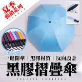 【H80631】馬卡龍色系 反向黑膠自動傘 抗UV 晴雨傘 全自動傘 抗強風 一鍵開收傘 自動傘