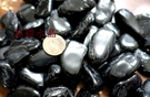 『晶鑽水晶』正統巴西黑碧璽粒 滾石**超大顆~鏡面光澤~又黑釉亮300公克裝
