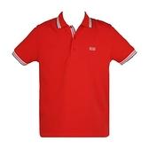 【南紡購物中心】HUGO BOSS 經典標誌配色男款POLO衫-紅