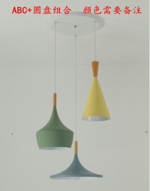 北歐燈具現代簡約三頭餐廳吊燈個性創意吧台臥室餐桌馬卡龍吊燈具