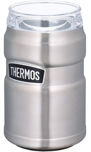 THERMOS 【日本代購】膳魔師 戶外系列 保冷罐350 ml罐用兩用型ROD-002二色