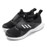 adidas 慢跑鞋 FortaRun X CF K 黑 白 魔鬼氈 大童鞋 中童鞋 女鞋 【PUMP306】 G27144