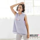Mollifix 瑪莉菲絲 潮流寬版造型背心(紫)