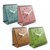 簡約時尚 現代居家 木紋 日式 風格 餐廳客廳臥室床頭 阿拉伯數字 靜音座鐘 時鐘 - 粉/藍/綠/原木