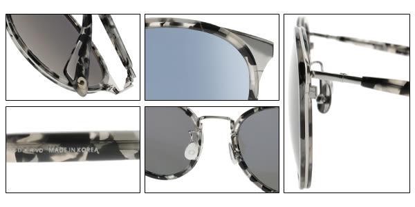 NINE ACCORD 太陽眼鏡 KISSING KARA C04 (大理石紋-粉藍水銀) 復古韓系圓框款 # 金橘眼鏡