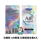 Durex杜蕾斯衛生套 保險套 AIR輕薄 幻隱裝衛生套8入 藍