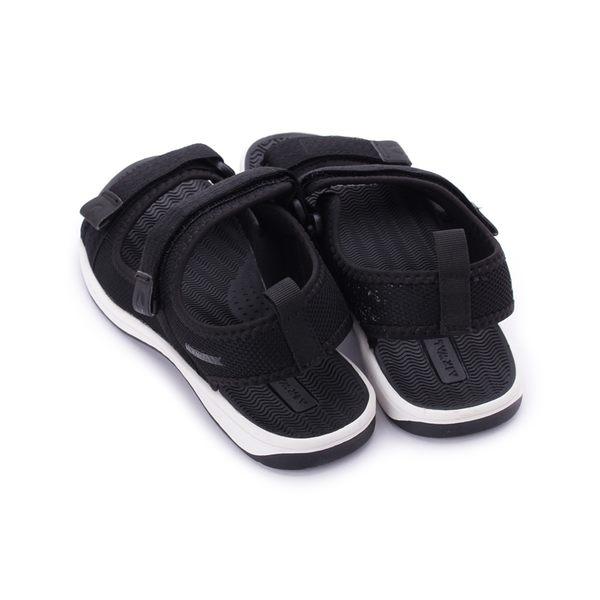 【AIRWALK】雙魔鬼氈織帶涼鞋-女款-黑