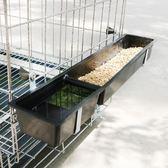 餵食器 塑料雞食槽長方形長條喂雞食盒喂水鴨鵝鵪鶉家禽料槽水槽喂食器 星河光年DF