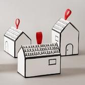 10個價小房子糖盒餅干曲奇蔓越莓盒禮品盒烘焙包裝紙盒子牛軋糖盒