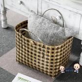 編織菜籃包手工編織購物籃大容量臟衣收納籃 ins風塑編手提袋菜籃子 10色 雙12提前購