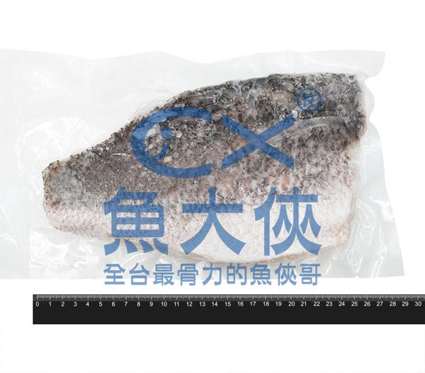 1C2B【魚大俠】FH253特大帶皮鱸魚清肉(500g/片)