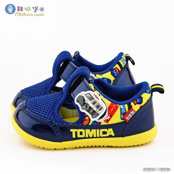 童鞋城堡-Tomica多美小汽車 網布透氣休閒鞋 TM7736 藍