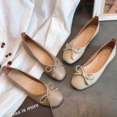 (全館一件免運)DE SHOP~(FD-2299)蝴蝶結簡約氣質款平底娃娃鞋