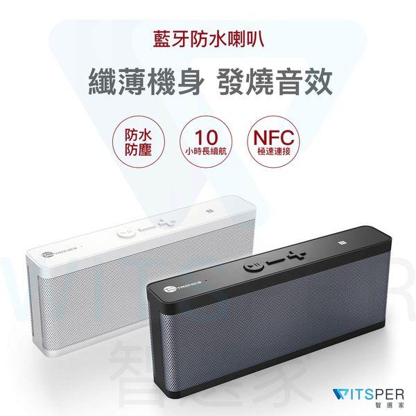 【白色預購中】TaoTronics TT-SK09 無線藍芽喇叭 防水 攜帶 6W雙喇叭 2個被動輻射器【WitsPer智選家】