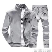 春秋男士帥氣男裝夾克衣服韓版休閒一身外套裝40成套30歲爸爸一套  自由角落