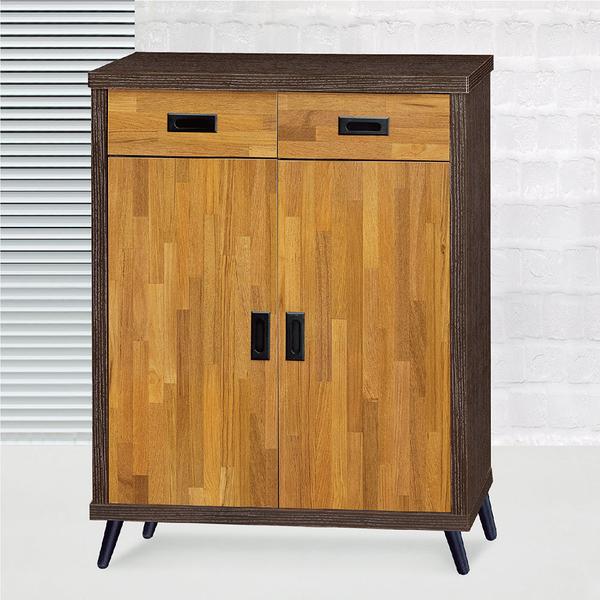 【采桔家居】茱立倫 時尚2.7尺木紋二門鞋櫃/玄關櫃