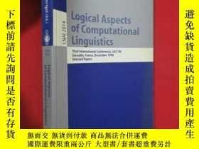 二手書博民逛書店Logical罕見aspects of computational linguistics (小16開 ) 【詳見