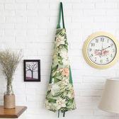 全棉純棉 田園花朵系列 加厚圍裙 雙口袋 居家布藝 廚房必備 均碼【時尚家居館】