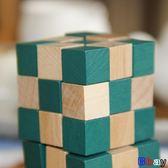 [Bbay] 魔術方塊 神龍擺尾 魔方 游戲 益智 口袋小玩具 玩具 木制