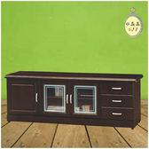 【水晶晶家具/傢俱首選】底比斯胡桃6呎三抽電視長櫃~~多種尺寸可選 HT7724-1