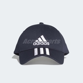 adidas 老帽 Classic 3 Stripes Cap 棒球帽 鴨舌帽 帽子 三條線 藍 白 【PUMP306】 DU0198