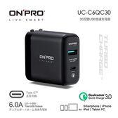 [富廉網] 【ONPRO】Type-C 雙用QC3.0 6A 快充USB急速充電器 UC-C6QC30