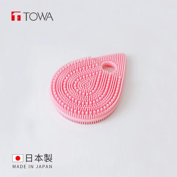 【日本東和TOWA】易起泡軟質矽膠雙面按摩潔顏刷 (美體 美肌 洗臉 清潔 去角質 保養 浴室 懶人)