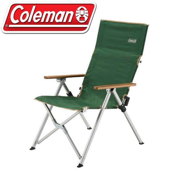 【Coleman 美國 LAY戶外躺椅(三段式)《綠》】CM-26745/摺疊椅/露營椅/收納椅